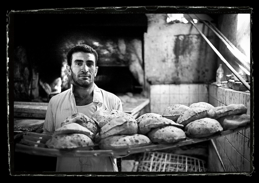 Cairo, Egypt  June 2008<br /> Kamal, 35 years old, baker.<br /> Photo: Ezequiel Scagnetti