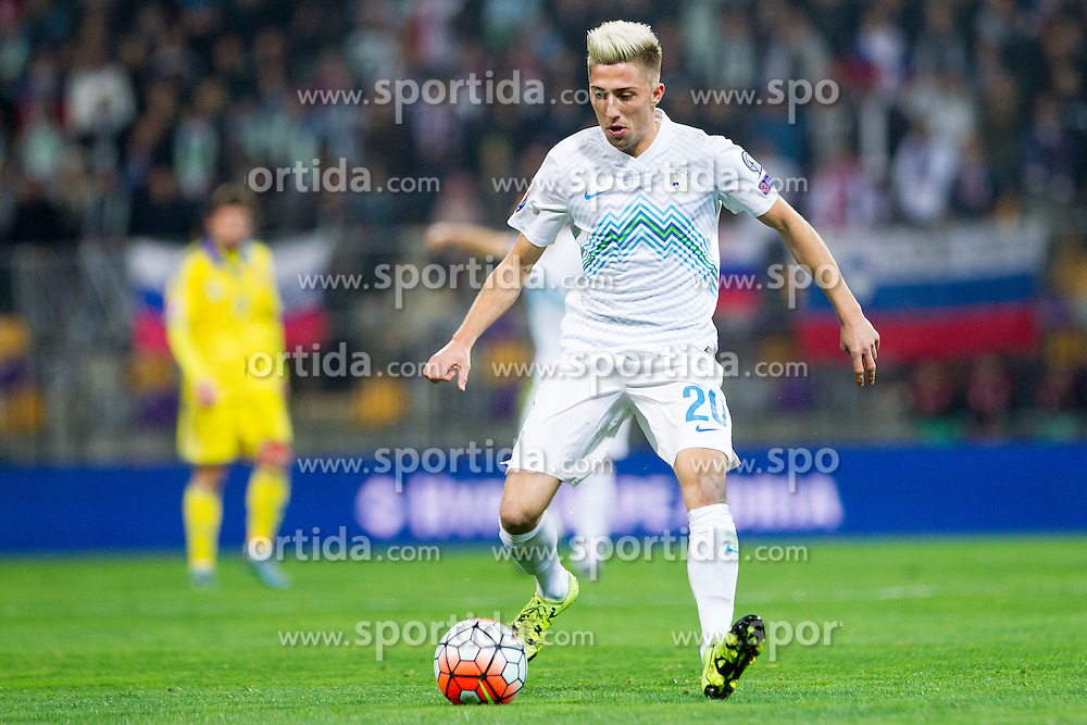 Kevin Kampl (SLO) during the UEFA EURO 2016 Play-off for Final Tournament, Second leg between Slovenia and Ukraine, on November 17, 2015 in Stadium Ljudski vrt, Maribor, Slovenia. Photo by Urban Urbanc / Sportida
