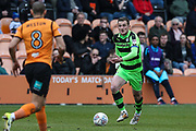 Forest Green Rovers Lee Collins(5) runs forward during the EFL Sky Bet League 2 match between Barnet and Forest Green Rovers at The Hive Stadium, London, England on 7 April 2018. Picture by Shane Healey.