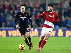 Antonio Barragan of Middlesbrough passes the ball - Mandatory by-line: Robbie Stephenson/JMP - 05/12/2016 - FOOTBALL - Riverside Stadium - Middlesbrough, England - Middlesbrough v Hull City - Premier League