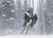 2006 X Games champion, Lars Lewin of Sweden crouches low over a jump during the final stage of the Jeep King of the Mountain Series in Telluride Friday. Previous races were held at Snowbird, Utah., Beaver Creek and Taos, N.M.