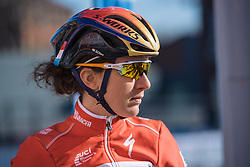 Luxembourg national champion, Christine Majerus - Le Samyn des Dames 2016, a 113km road race from Quaregnon to Dour, on March 2, 2016 in Hainaut, Belgium.