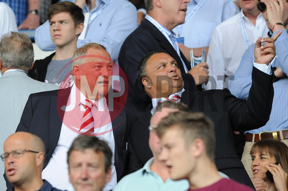 Bristol Rugby chairman Chris Booy and Ernie Arathoon attend the game between Sheffield Wednesday and Bristol City - Mandatory byline: Dougie Allward/JMP - 07966386802 - 08/08/2015 - FOOTBALL - Hillsborough Stadium -Sheffield,England - Sheffield Wednesday v Bristol City - Sky Bet Championship