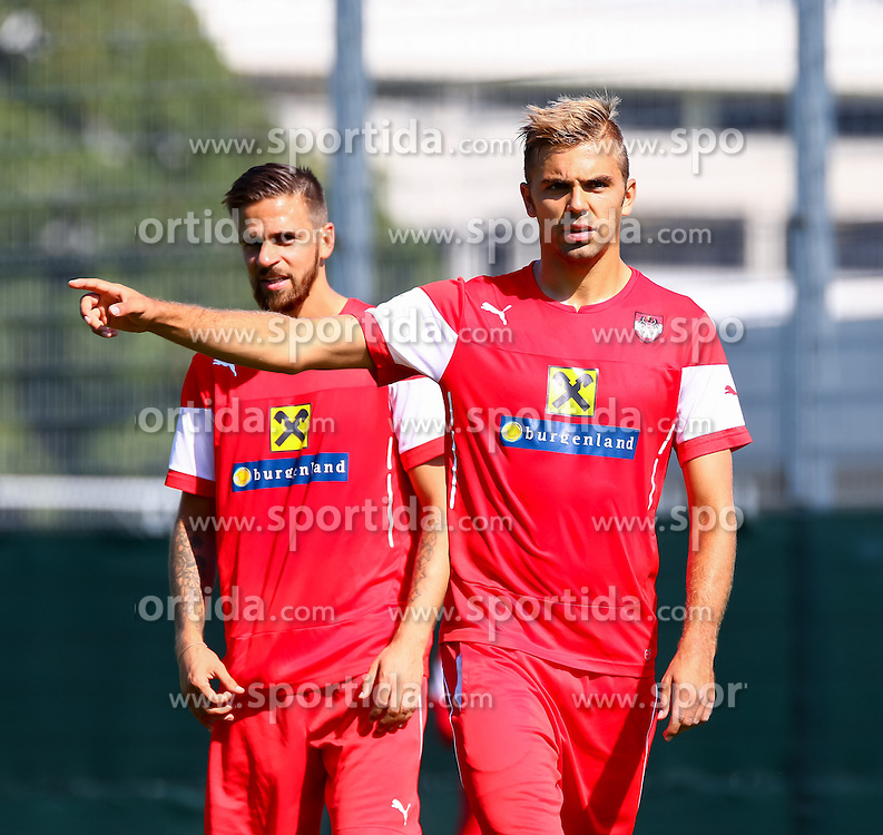 01.09.2015, Ernst Happel Stadion, Wien, AUT, UEFA Euro 2016 Qualifikation, Österreich vs Moldawien, Gruppe G, Training Österreich, im Bild Lukas Hinterseer (AUT) // during a training session of Team Austria (AUT) in front of the UEFA European Championship Qualifier Match between Austria (AUT) and Moldova (MDA) at the Ernst Happel Stadion, Vienna, Austria on 2015/09/01. EXPA Pictures © 2015, PhotoCredit: EXPA/ Sebastian Pucher
