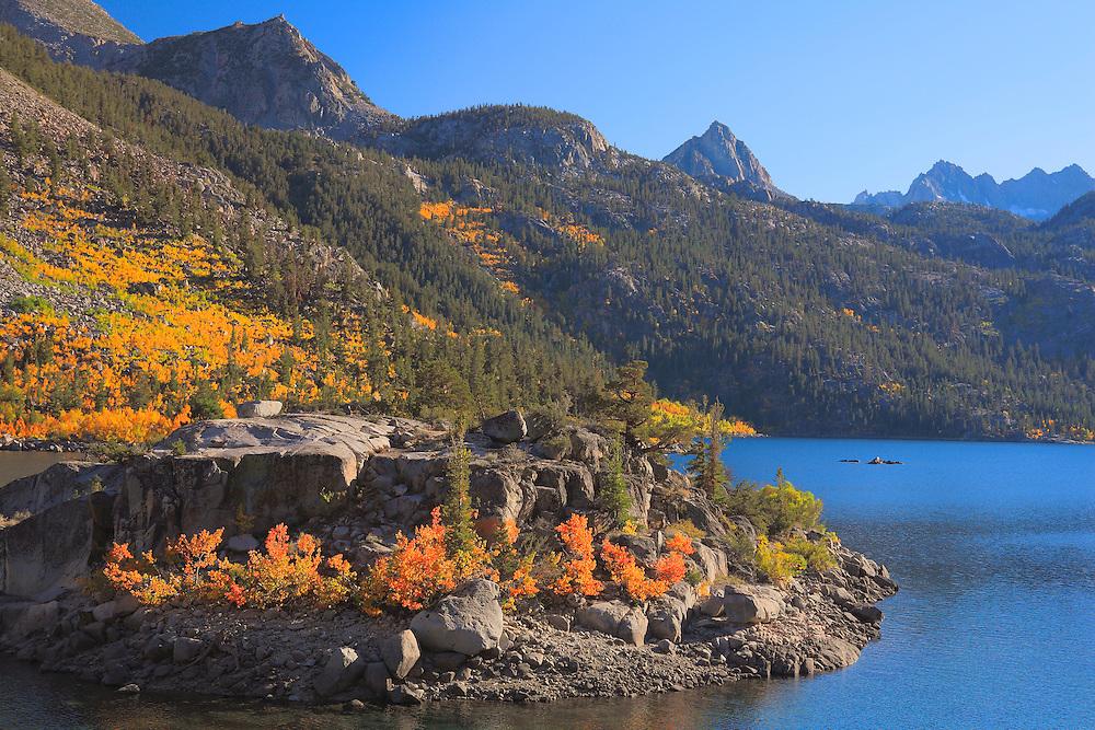 Lake Sabrina Island Late Afternoon - Fall Color