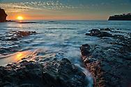 Lava Beach Sunset