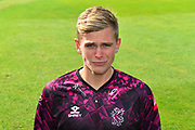 Head shot of Ollie Sale in the Vitality Blast kit during the 2019 media day at Somerset County Cricket Club at the Cooper Associates County Ground, Taunton, United Kingdom on 2 April 2019.