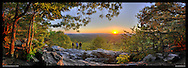 Panoramic photograph of spectacular view of Blue Ridge Mountains in Virginia.  Print Size (in inches): 15x6.5; 24x10; 36x15.5; 40x17; 48x21; 60x26; 72x31