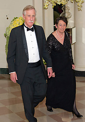United States Senator Angus King (Independent of Maine) Kathryn Rand arrive for the State Dinner in honor of Prime Minister Trudeau and Mrs. Sophie Grégoire Trudeau of Canada at the White House in Washington, DC on Thursday, March 10, 2016. EXPA Pictures © 2016, PhotoCredit: EXPA/ Photoshot/ Ron Sachs<br /> <br /> *****ATTENTION - for AUT, SLO, CRO, SRB, BIH, MAZ, SUI only*****