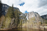 Scenic image of Yosemite Falls. Yosemite National Park.
