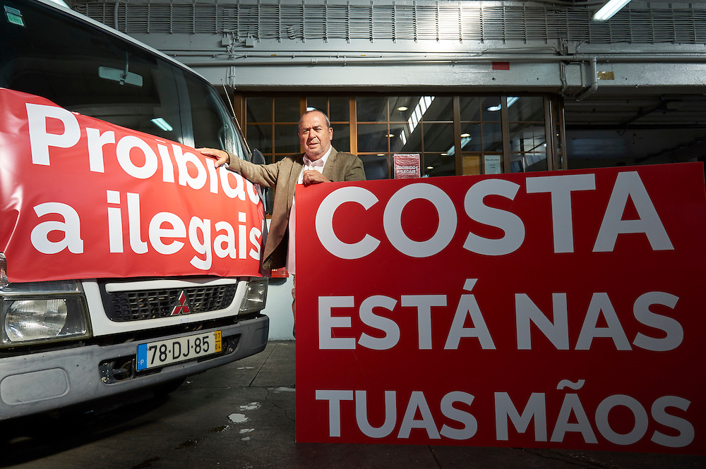 Lisboa, 08/10/2016 - Carlos Ramos da federação portuguesa de táxis fala ao DN das reivindicações da classe nas vésperas da manifestação marcada para 10.10.2016(Paulo Alexandrino / Global Imagens)