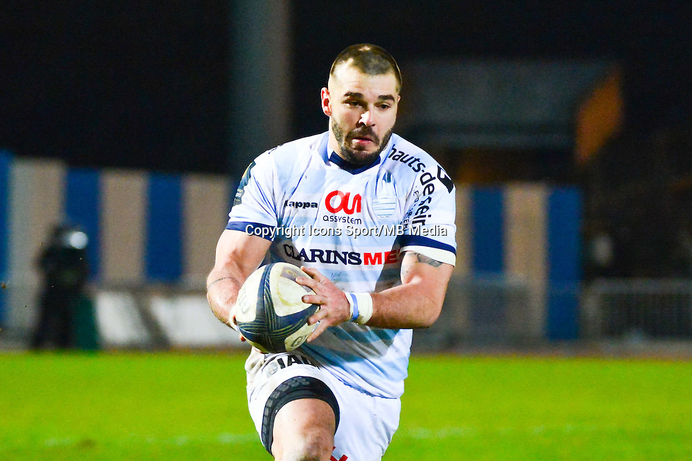 Benjamin LAPEYRE  - 18.01.2015 - Racing Metro 92 / Trevise - European Champions Cup<br /> Photo : Dave Winter / Icon Sport