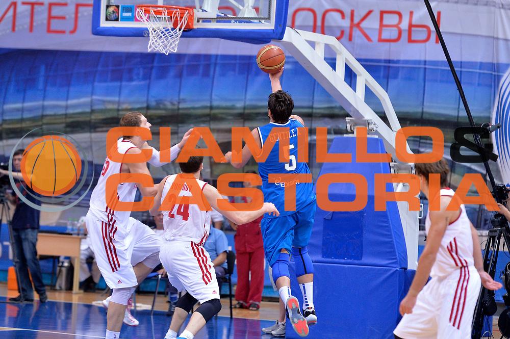 DESCRIZIONE : Mosca Moscow Qualificazione Eurobasket 2015 Qualifying Round Eurobasket 2015 Russia Italia Russia Italy<br /> GIOCATORE : Alessandro Gentile<br /> CATEGORIA : Tiro Sottomano Controcampo<br /> EVENTO : Mosca Moscow Qualificazione Eurobasket 2015 Qualifying Round Eurobasket 2015 Russia Italia Russia Italy<br /> GARA : Russia Italia Russia Italy<br /> DATA : 13/08/2014<br /> SPORT : Pallacanestro<br /> AUTORE : Agenzia Ciamillo-Castoria/GiulioCiamillo<br /> Galleria: Fip Nazionali 2014<br /> Fotonotizia: Mosca Moscow Qualificazione Eurobasket 2015 Qualifying Round Eurobasket 2015 Russia Italia Russia Italy<br /> Predefinita :