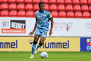 Forest Green Rovers Ebou Adams(14) during the EFL Cup match between Charlton Athletic and Forest Green Rovers at The Valley, London, England on 13 August 2019.