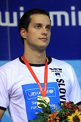 Swimmer Matjaz Markic, European Champion in 50m Men`s Breaststroke, at 3rd day of LEN European Short Course Swimming Championships Rijeka 2008, on December 13, 2008,  in Kantrida pool, Rijeka, Croatia