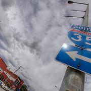Along Southwest Boulevard in the West Side area of Kansas City, Missouri.