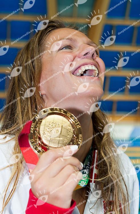 EFIMOVA Iulia Russia RUS<br /> gold medal 100 breaststroke women<br /> 27th Summer Universiade <br /> 5 - 17 July 2013 Kazan Tatarstan Russia<br /> Day 08 Swimming finals<br /> Photo G. Scala/Insidefoto/Deepbluemedia.eu