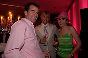 RALPH FIRMAN, RICK PARFIT JNR and TICKY HEDLEY-DENT. 'Polo' party  at The Westbury Hotel, Bond Street, London W1 on 26th April 2005.ONE TIME USE ONLY - DO NOT ARCHIVE  © Copyright Photograph by Dafydd Jones 66 Stockwell Park Rd. London SW9 0DA Tel 020 7733 0108 www.dafjones.com