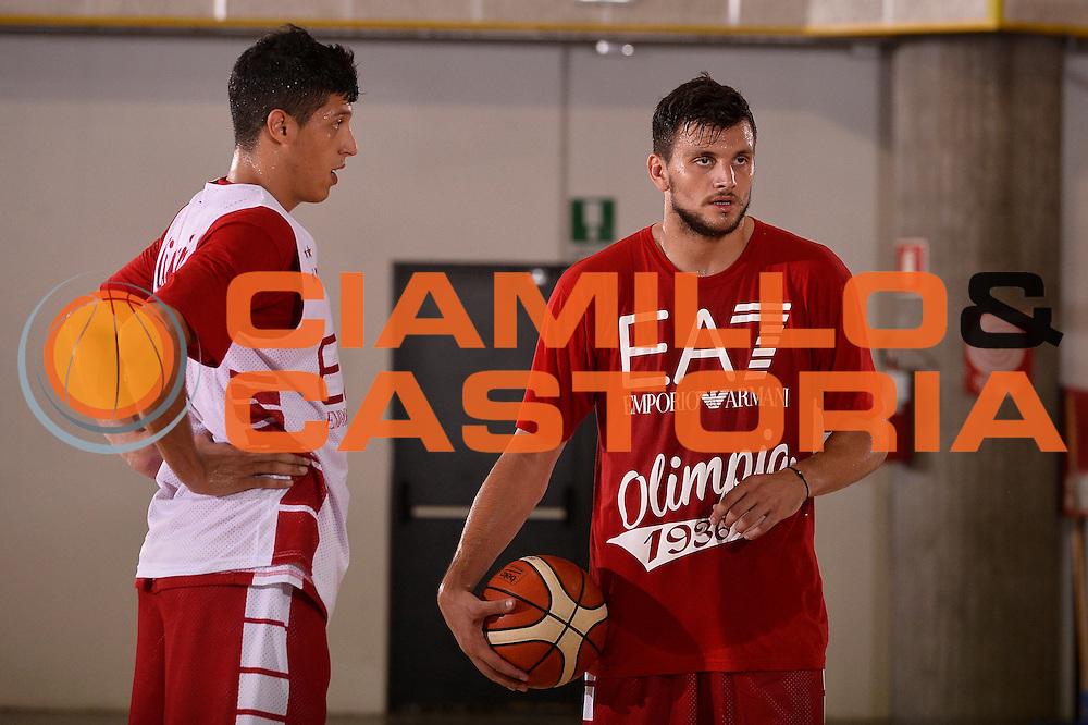 Alessandro Gentile <br /> EA7 Emporio Armani Olimpia Milano allenamento<br /> Lega Basket Serie A 2016/2017<br /> Bormio 25/08/2016<br /> Foto Ciamillo-Castoria