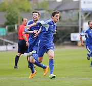 Connor Adam celebrates after firing St James 2-1 ahead - St James (blue) v NCR (white) North of Tay Cup (sponsored by Evening Telegraph) Cup Final at Dens Park <br /> <br />  - &copy; David Young - www.davidyoungphoto.co.uk - email: davidyoungphoto@gmail.com