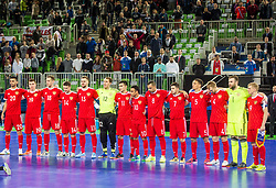 Russian team during futsal match between Russia and Kazakhstan in Third place match of UEFA Futsal EURO 2018, on February 10, 2018 in Arena Stozice, Ljubljana, Slovenia. Photo by Ziga Zupan / Sportida