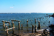 View of Long Island Sound from City Island, New York.