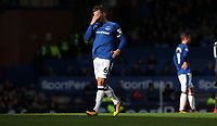 Football - 2017 / 2018 Premier League - Everton vs. Arsenal<br /> <br /> Phil Jagielka of Everton reacts at Goodison Park.<br /> <br /> COLORSPORT/LYNNE CAMERON