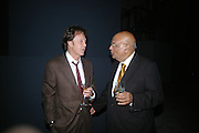 SIR PAUL MCCARTNEY AND LORD PAUL . Dinner given by Established and Sons to celebrate Elevating Design.  P3 Space. University of Westminster, 35 Marylebone Rd. London NW1. -DO NOT ARCHIVE-© Copyright Photograph by Dafydd Jones. 248 Clapham Rd. London SW9 0PZ. Tel 0207 820 0771. www.dafjones.com.