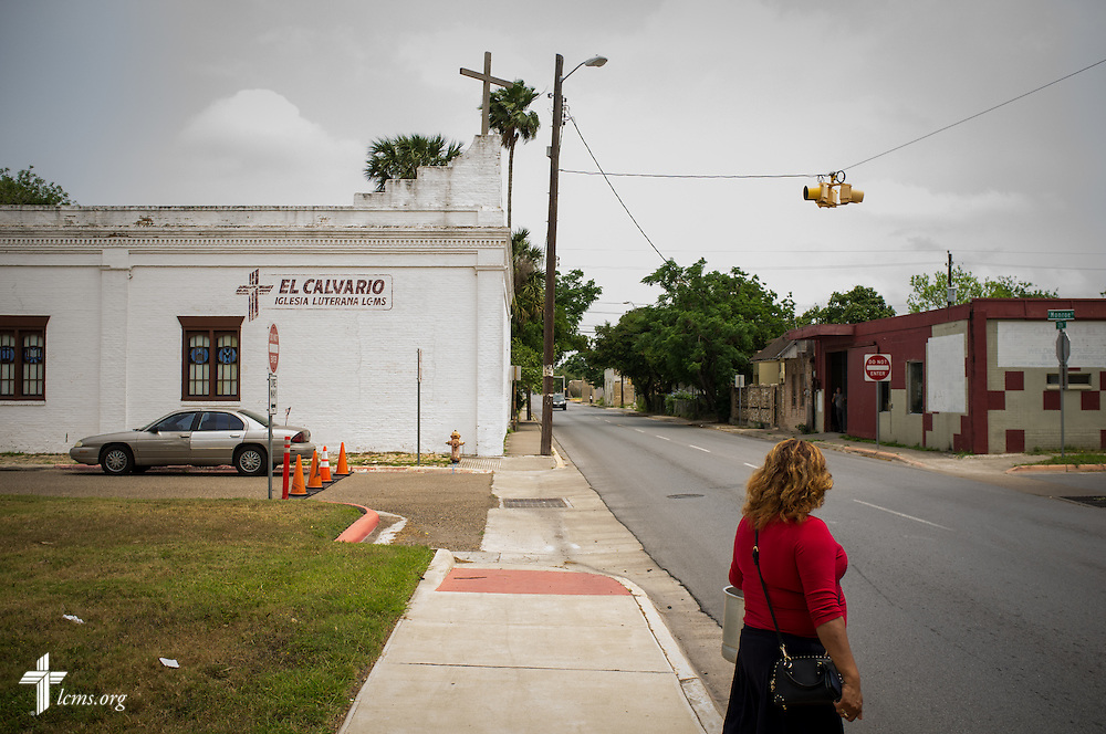El Calvario Lutheran Church, first built in the mid-1930s, is seen Sunday, April 17, 2016, in Brownsville, Texas. A handful of families hold together the church as they await a pastor. LCMS Communications/Erik M. Lunsford
