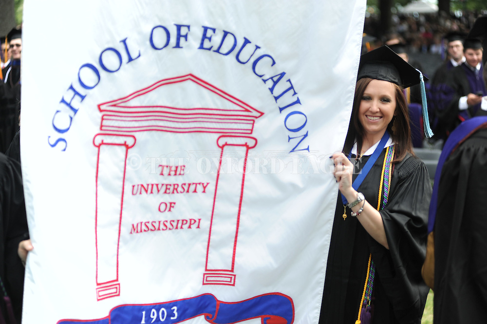University of Mississippi graduation ceremonies in the Grove in Oxford, Miss. on Saturday, May 12, 2012.