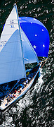 Columbia, 12 Meter Class, racing in the Museum of Yachting Classic Yacht Regatta.