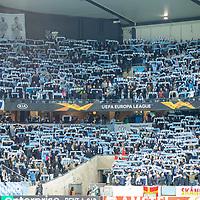 2019-10-03 | Malmö, Sweden: Malmö F fans 6during the game between Malmö FF and FC Köpenhamn at Swedbank Stadion ( Photo by: Roger Linde | Swe Press Photo )<br /> <br /> Keywords: Swedbank Stadion, Malmö, Soccer, Europa League, Malmö FF, FC Köpenhamn, mk191003, mfffck, uel