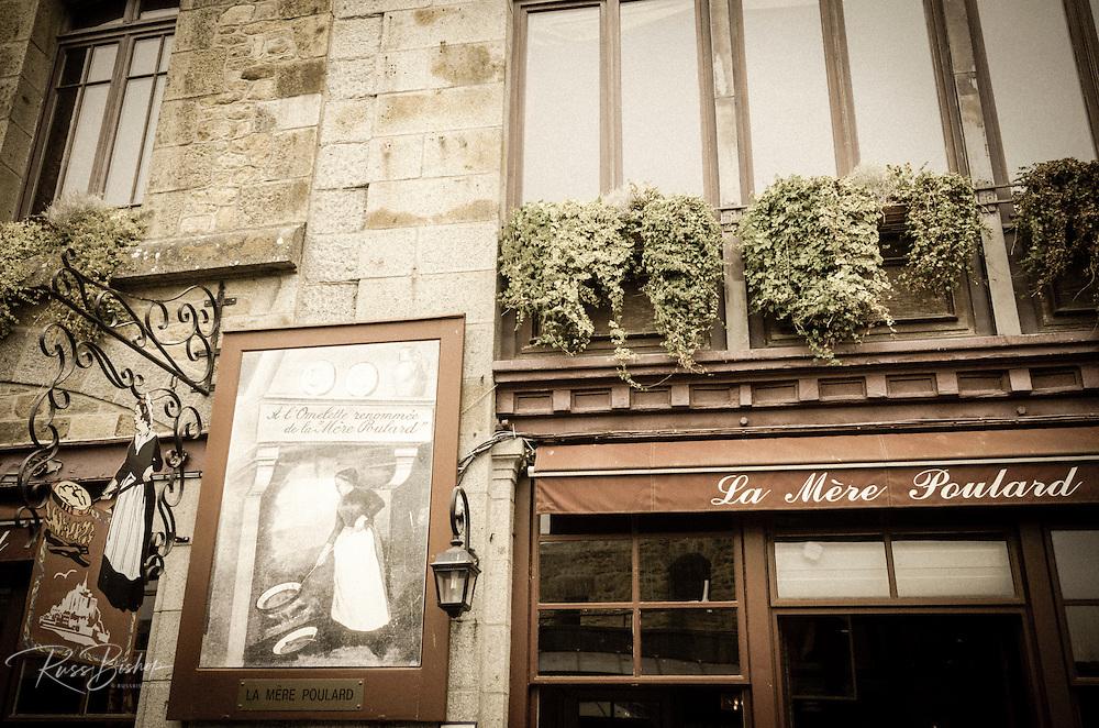 La Mère Poulard restaurant, Mont Saint-Michel, Normandy, France