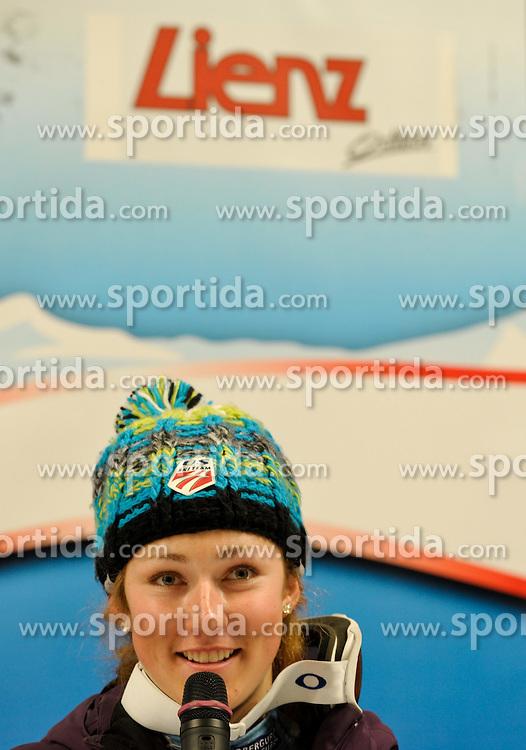 29.12.2011, Hochstein Weltcupstrecke, Lienz, AUT, FIS Weltcup Ski Alpin, Damen, Slalom, Pressekonferenz, im Bild Mikaela Shiffrin AUT // during the Press Conference at FIS Ski Worldcup at Worldcupcourse Hochstein in Lienz, 29-12-2011, EXPA Pictures © 2011, PhotoCredit: EXPA/ M. Gruber