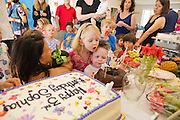 Sofia celebrates her 3rd birthday with family and friends in Portola Valley, California, on June 22, 2014. (Stan Olszewski/SOSKIphoto)