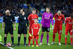 BOLTON, ENGLAND - Wednesday, February 4, 2015: Liverpool's captain Steven Gerrard on his 700th game for the Reds before the FA Cup 4th Round Replay match against Bolton Wanderers at the Reebok Stadium. (Pic by David Rawcliffe/Propaganda)