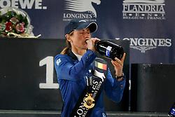 Leprevost Penelope, (FRA) winner of the Global Champions Tour of Antwerp with Flora de Mariposa.<br /> Global Champions Tour Antwerp 2016<br /> © Hippo Foto - Dirk Caremans<br /> 23/04/16