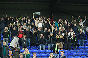 FGR away support at the final whistle during the EFL Sky Bet League 2 play off first leg match between Tranmere Rovers and Forest Green Rovers at Prenton Park, Birkenhead, England on 10 May 2019.