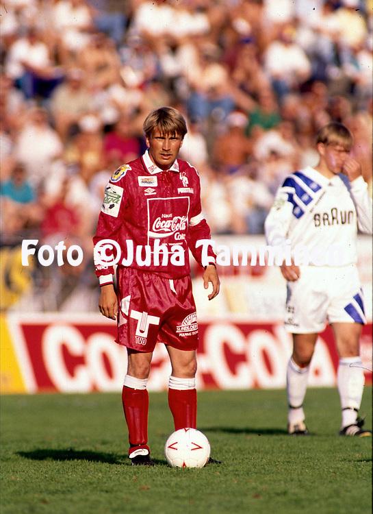 20.05.1993, Pallokenttä, Helsinki, Finland..Veikkausliiga / Finnish League match, FinnPa Helsinki v FC Jazz Pori..Jarmo Alatensiö - FC Jazz.©Juha Tamminen