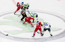 Robin Hanzl of Czech Republic vs Rok Ticar of Slovenia during the 2017 IIHF Men's World Championship group B Ice hockey match between National Teams of Czech Republic and Slovenia, on May 12, 2017 in AccorHotels Arena in Paris, France. Photo by Vid Ponikvar / Sportida