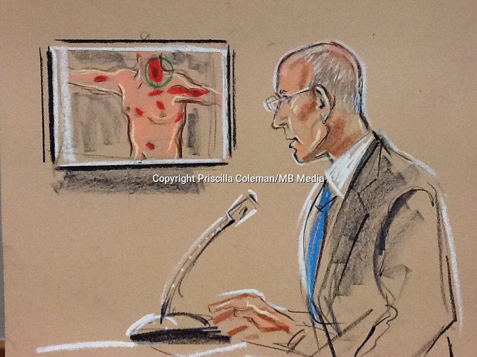 Pathologist in the trial describes up to 50 knife wounds over the 4 victims