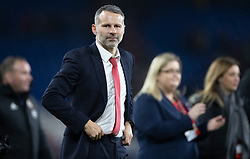 CARDIFF, WALES - Tuesday, November 19, 2019: Wales manager Ryan Giggs after the final UEFA Euro 2020 Qualifying Group E match between Wales and Hungary at the Cardiff City Stadium where Wales won 2-0 and qualified for Euro 2020. (Pic by Laura Malkin/Propaganda)