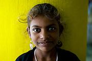 Smiling girl at the Dargha shrine in Nagore. South India. near Nagapattinam.