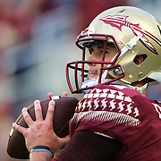 Florida State Seminoles quarterback J.J. Cosentino (16) is seen during an NCAA football game between the Ole Miss Rebels and the Florida State Seminoles at Camping World Stadium on September 5, 2016 in Orlando, Florida. (Alex Menendez via AP)