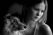 Girls Best Friend-Aleandra Rothacker and her  best friend, her dog. (model released)