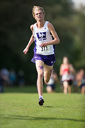 Matt Sheeler of the Western Mustangs  (311) competes in the men's 8k  at the 2015 Western International Cross country meet in London Ontario, Saturday,  September 26, 2015.<br /> Mundo Sport Images/ Geoff Robins