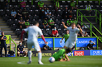 Football - 2020 / 2021 EFL League Two - Forest Green Rovers vs Bradford City<br /> <br /> Fans look on, at the New Lawn Stadium<br /> <br /> COLORSPORT/ASHLEY WESTERN