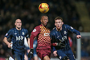 Wes Thomas (Bradford City) during the Sky Bet League 1 match between Bradford City and Southend United at the Coral Windows Stadium, Bradford, England on 16 February 2016. Photo by Mark P Doherty.