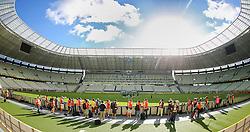 Treino da Seleção Brasileira na tarde desta terça-feira, 18, no estádio Arena Castelão, em Fortaleza-CE. Amanhã, o Brasil enfrenta o México em partida válida pela segunda rodada da Copa das Confederações. FOTO: Jefferson Bernardes/Vipcomm