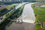 Nederland, Limburg, Roermond, 27-05-2013; Stuw in de Maas. <br /> Weir in the Meuse<br /> luchtfoto (toeslag op standard tarieven)<br /> aerial photo (additional fee required)<br /> copyright foto/photo Siebe Swart